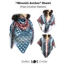 Moonlit Arches Shawl Free Crochet Pattern Goddess Crochet
