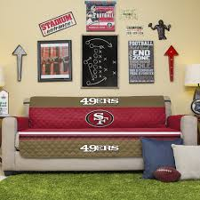 Amazon NFL San Francisco 49ers Sofa Couch Reversible Furniture Protector With Elastic Straps 75 Inches By 110 Home Kitchen