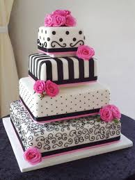 Take off top layer change middle layer to pink and add pink and black stripes on new top layer Cakes Pinterest
