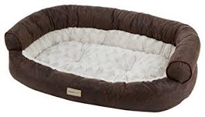 amazon com poochplanet slumbersalon couch style pet bed large
