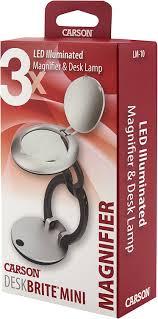 Lighted Magnifier Desk Lamp amazon com carson desk brite mini 3x led lighted magnifier and