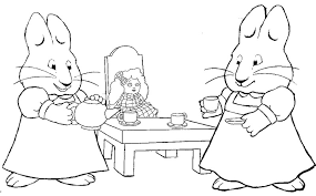 Ideas Of Max And Ruby Coloring Pages To Print In Letter Template
