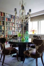 Eclectic Dining Room By Christopher Burns Interiors Love Library Combo Makes A Better And