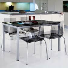 table de cuisine moderne fantaisie table et chaise cuisine chaises transparentes de noires