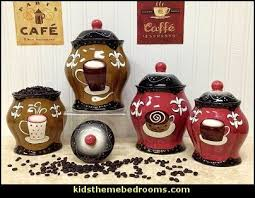 Tuscany Hand Painted Fleur De Lis Coffee Design Canister Set Of By ACK Find This Pin And More On Theme Kitchen