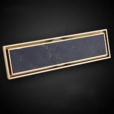 gold reiner messing 300 83mm badezimmer rechteck linear unsichtbare duschablauf boden sieb abtropffläche mit einsatz rost