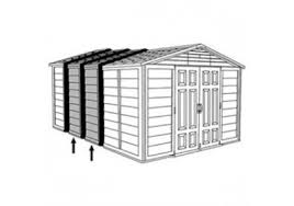 Suncast Garden Shed Taupe by Suncast Storage Shed Kit Accessory Deck Box Patio Cooler