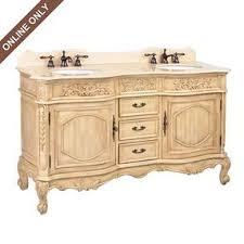 Kirklands Home Bathroom Vanity by Ivory Sinclair Cream Marble Top Double Bathroom Vanity Sink 60in