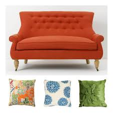Crate And Barrel Petrie Sofa Slipcover by The Pink Doormat Mixing Patterns Style Tips By Emily Henderson