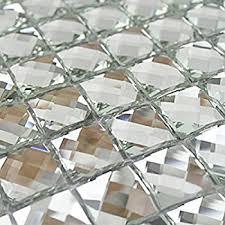 Bathroom Mosaic Mirror Tiles by Amazon Com Glass Mosaic Tile Mini Square Glass Mosaic Mirror