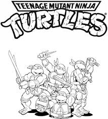 Teenage Mutant Ninja Turtles Coloring Page Tmnt Pages Lineart For Kids