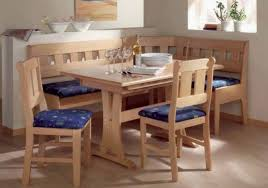 Image Of Enthralling Kitchen Chair Pads Country Blue Alongside L Shaped Dining Bench Nearby Rectangular Table