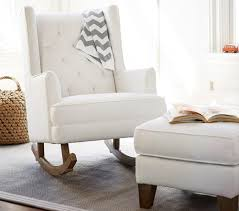 White Pottery Barn Kids Rocking Chair With Ottoman