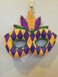 Mardi Gras Mask Door Decoration by Mardi Gras Crown Door Hanger Door Wreath New By Artworktotreasure