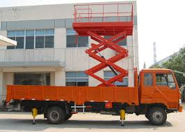 100 Scissor Lift Truck 6m Ing Height Mounted 450Kg Loading Capacity