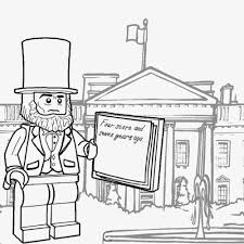 White House Coloring Page For Kids Pages Throughout