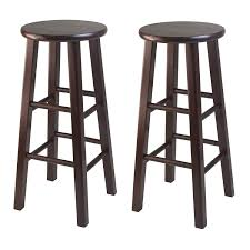 Amazon Winsome Wood 29 Inch Square Leg Barstool With Natural Finish Set Of 2 Kitchen Dining