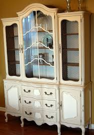 Chalk Paint Colors For Cabinets by Annie Sloan Chalk Paint Old Ochre And Old White China Cabinet