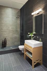 new york linen tile bathroom contemporary with deck mount sink