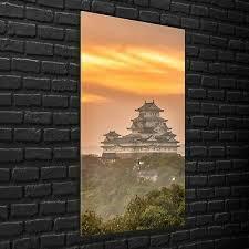 wandbilder glasbilder wohnzimmer 70x140 schloss himeji im