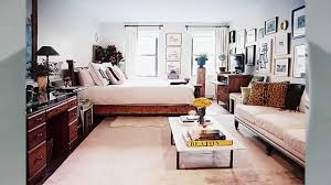 wohnzimmer und schlafzimmer in einem