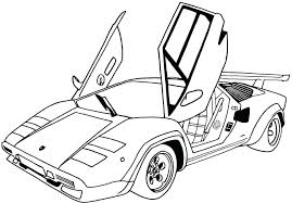 Coloring Pages Sports Cars Free Printable Car For Adults Online Page Sport
