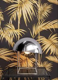 newroom vliestapete blumentapete schwarz gold wallpaper floral blumen tapete dschungel palmen natur wohnzimmer schlafzimmer büro flur kaufen