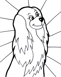 Girl Dog Coloring Page
