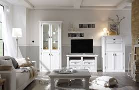 wohnwand maisonette vintage weiß mit sekretär