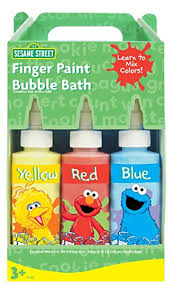 amazon com sesame street finger paint fun soap red yellow blue
