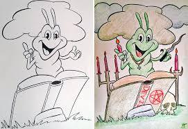 Funny Children Coloring Book Corruptions 6