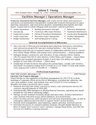 Project Manager Resume Examples Director Of Operations Cover Letters Resumes