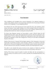 100 Pmc 10 Maldives Police On Twitter Press Statement PMC201822