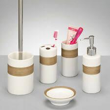 bad zubehör sets aus keramik mit bürstengarnitur günstig