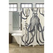 Medium Weight  Cotton Silk Screen Vintage Octopus Shower