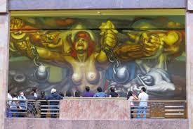 David Alfaro Siqueiros Murales Bellas Artes by Latin America Mexico City Zocalo