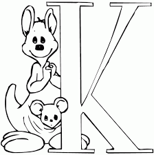 Letter K Coloring Pages For Preschoolers 3
