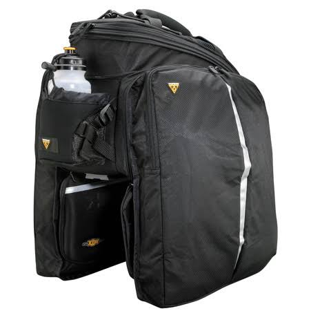 Topeak MTX Trunkbag DXP Rack Bag with Expandable Panniers - 22.6 Liter, Black