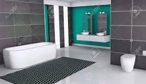 home interior eines modernen badezimmer mit modernem design fenster weiß boden und granit fliesen 3d rendering