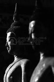 Black And White Buddha Image Photo