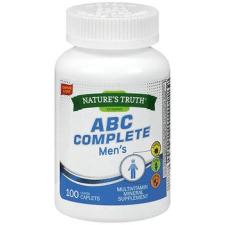 Nature's Truth Abc Complete Men's Multivitamin - 100 Caplets
