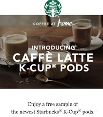 Pumpkin Spice Latte K Cups by Free Sample Of New Starbucks Latte K Cup Pods And Another