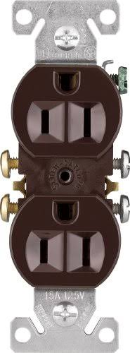 Cooper Wiring 270B Grounded Receptacle, Brown