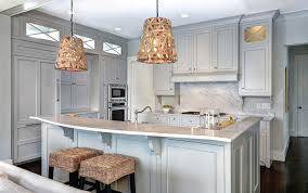 woven pendant light kitchen with cooktop wood floor