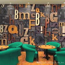 Custom 3d Letters Wallpaper Vintage Photo Europe Bedroom Living Room Tv Sofa Backdrop Wall Mural Art Decor Home Decoration Wide Wallpapers Hd