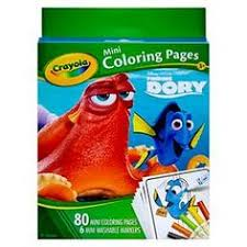 CrayolaR Mini Coloring Pages 80pgs 6ct Markers