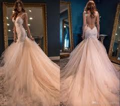 2017 vintage boho summer blush mermaid wedding dresses luxury