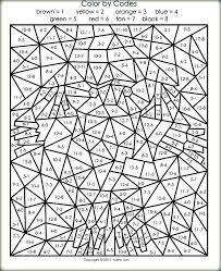 Advanced Color By Number Coloring Pages Really Hard R Ring In Cure Printable