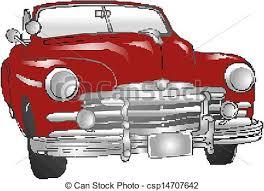 Vintage Car Illustration Eps Vector