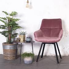 esszimmerstuhl drehbar shannon samt pink velvet stuhl